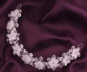 MDRW-Bride Wedding Prom Hair Pins Then Matte Whiteheaddress Flower Quinqueleaf Crystal Hairpin Hair Headdress Flower Dress Accessories