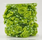 Imitation pearl chain 10 m pearl bead chain fishing line wreath wedding floral DIY decorative accessories (6 colours) , Green