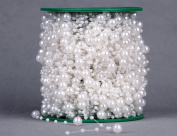 Bridal Pearl Bouquet Fish Thread Bead 60 m Plastic Bead 8 mm +3 mm White / Beige / Red / Blue , white