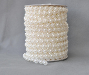 Pearl line bead pearl chain fishing line wreath wedding floral DIY decorative accessories 25 metres white