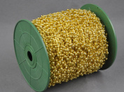 Green Christmas bead chain plating gold and silver 3MM fishing line beads wedding decoration 120 metres
