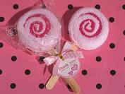 Sweet Treats Collection Pink Lollipop Towel Favour