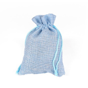Zimo 10Pcs Jute Burlap Jewellery Gift Bags with Drawstring,Vintage Candy Bags Pouches For Wedding Party Favour