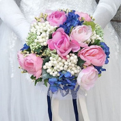 LNPP Wedding Flowers Bouquets Wedding Polyester 9.84""