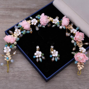 KHSKX-South Korea Beautiful Bride Pearl Colour Bride Wedding Dress Wedding Headdress A Hairpin Hair Accessories