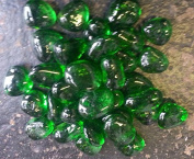 500g app 35 of GREEN Glass Stones 25-35mm