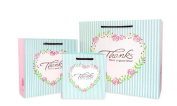 Nacpy Thanks Gift Bag Wedding Gift Bag Heart shaped Carrier Party Bags Paper Bags Packing Candy Bag Pack Of 5