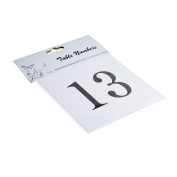 Pre Numbered Square White Table Numbers for Holders (13-24) - XTNSW2