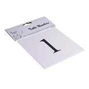 Pre Numbered Square White Table Numbers for Holders (1-12) - XTNSW1