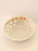 Cup Perforated – Valet Tray – Tealight Holder – portabonbon – Party Favours Wedding Porcelain Capodimonte Visconti