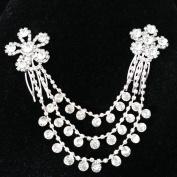 xinyiwei Crystal Hair Clip with Rhinestones Tassels Bridal Bridesmaid Women's Hair Accessory