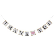 Lucky GIRL Thank You Wedding Bunting Banner Hanging Decoration Gift Photo Prop