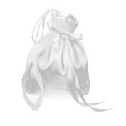 Kelaina Elegant Satin Bridal Bridesmaid Dolly Bag Gift Bag with Rhinestone Decoration
