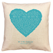 Train, Marry Me song words/ lyrics CUSHION - ideal Cotton 2nd Anniversary Gift - with your own PERSONALISATION