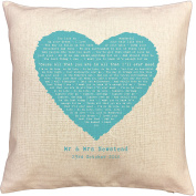 Ed Sheeran TENERIFE SEA song words/ lyrics CUSHION - ideal Cotton 2nd Anniversary Gift - with your own PERSONALISATION