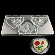 VAK Valentine's Day Gift 3 Cells large heart Bakeware Chocolate Moulds,Candy Baking Mould Pan, Cookie Ice Tray Baking Jelly Pudding Cake Decorating Mould Kitchen Baking Supplies - 14.5x 28x2.5cm