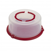 Good Cook Bake-n-Take Round Cake Carrier with Handle, 30cm , Red