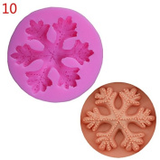 Skyeye 1Pc Pink Creative Snowflake Shape Mould Special Chocolate Cookie Cutters Cake Mould Baking Tool