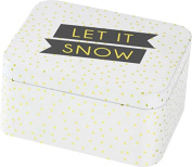 Christmas – Let It Snow Biscuit Tin (12 x 10 x 6 cm) Top Quality