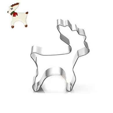 LIUZHI Christmas Deer Cookies Cutter Stainless Steel Biscuit Cake Mould Fondant Baking Tools