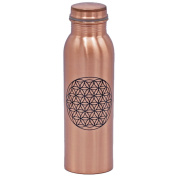 Copper Bottle with screw cap - Flower of Life - printed 750 ml