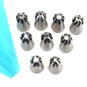 11pcs Cake Decorating Supplies New Sphere Ball Tips Russian Icing Piping Nozzles Tips Pastry Cupcake