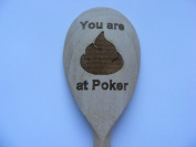 NEW ENGRAVED POKER WOODEN SPOON LOSER LAST BOOBY PRIZE WORST PLAYER NOVELTY CARDS JOKE WOOD KITCHEN COOKING BAKING GIFT PRESENT UK by FASTGAME