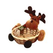 Christmas Candy Basket Decoration Santa Claus Storage Basket Gift Party Kitchen Accessories by LMMVP