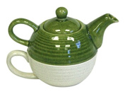 Two-Tone Tea For One Set by Hues & Brews