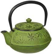Villa d 'Este Home Tivoli 2416304 Teapot, Cast Iron, Green