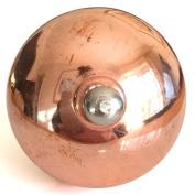 Round Copper wilth Silver Button