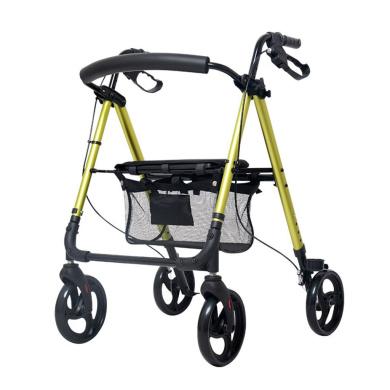 HJHY® walking aids, Senior trolley Walker Aluminium alloy Belt wheel With seat Walker Scooter Old shopping cart