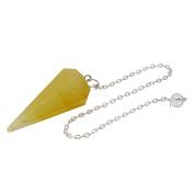 Harmonise Aventurine Faceted Cone Pendulum Dowsing Reiki Healing Stone Spiritual Gift