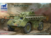 Bronco Models CB35115 Model Kit T17E1 Stag Hound MK. I armoured car (Late Production) W.3.7m Assault Bridge Game