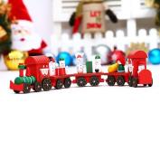 HKFV Festive Christmas Stylish Train Toys Funny Christmas Decorations Christmas Woods Small Train Children Kindergarten Festive Best Christmas Decor For Kids