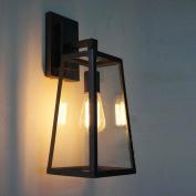 Frideko Vintage Industrial Glass Showcase Lampshade Loft Wall Light for Living-room Dining Room Office Passageway