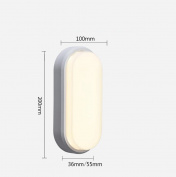 Daeou Waterproof wall lamp, ceiling lamp, aisle balcony outdoor lamp, lawn garden wall lamp Shade material:Acrylic size:20x10x5.5cm