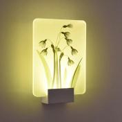 Daeou Modern, led bedroom wall lamp, bedside living room, wall lamp, aisle balcony lamp, light colour, warm light Shade material:Acrylic size:28x20x5cm