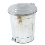 VACCHETTI Josef 5712090000 Waste Bin, Pedal Bin Metal, Grey, 37 x 31.5 x 47 cm