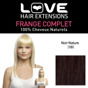 Love Hair Extension Human Hairs Limited Edition Full Fringe, Colour 1B Natural Black