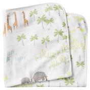Coyuchi Print Hooded 0-24mos Towel, Jungle
