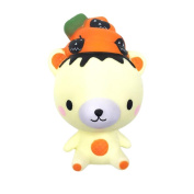 Stress Reliever Toy Muium Poo Pumpkin Bear Scented Squishy Super Slow Rising Squeeze Decompression Toys Phone Strap