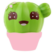 Stress Reliever Toy Muium Cactus Cream Scented Squishy Slow Rising Squeeze Fun Toys Strap For Kids