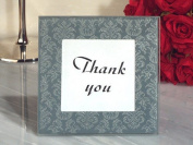 Classic Silver And Grey Damask Design Glass Photo Frame