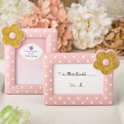 Pink And Gold Photo Frame, Place Card Frame From Solefavors
