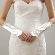 ZLYAYA gloves,Wedding Bridal Gloves Lace Silk Flower Marriage Gloves