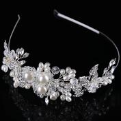 Bride headdress pearl glass head buckle stage banquet bride wedding headdress