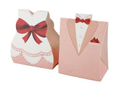 andensoner 50 Sets Creative Wedding Favour Candy Gift Box