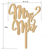 Omkuwl Wooden Mr & Mrs Wedding Cakes Topper Cake Stand Wedding Party Cakes Decor