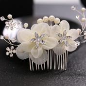 Bride's Headdress Rhinestones silk flower Wedding Bride's Wedding dress accessories Headdress